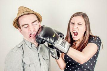 Couple qui va mal se dispute
